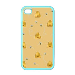 Bee Pattern Apple Iphone 4 Case (color)