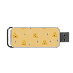 Bee Pattern Portable Usb Flash (two Sides)