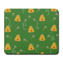 Bee Pattern Large Mousepads by Valentinaart
