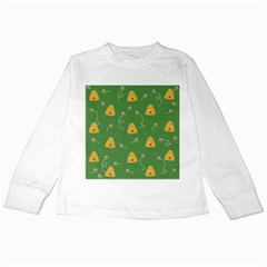 Bee Pattern Kids Long Sleeve T Shirts