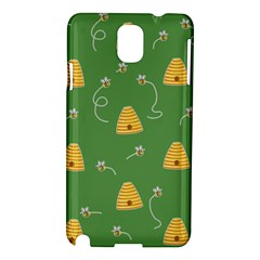 Bee Pattern Samsung Galaxy Note 3 N9005 Hardshell Case by Valentinaart