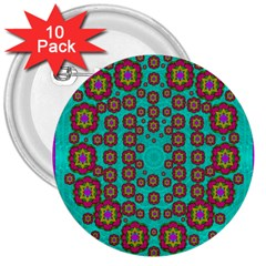 The Worlds Most Beautiful Flower Shower On The Sky 3  Buttons (10 Pack)  by pepitasart