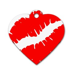Lips 161956 640 Dog Tag Heart (one Side) by belezabrazuca70