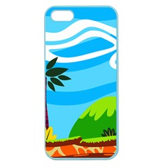Landscape Background Nature Sky Apple Seamless Iphone 5 Case (color)