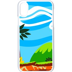 Landscape Background Nature Sky Apple Iphone X Seamless Case (white)