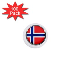 Norway Country Nation Blue Symbol 1  Mini Buttons (100 Pack)  by Nexatart