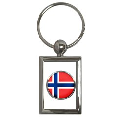 Norway Country Nation Blue Symbol Key Chains (rectangle)