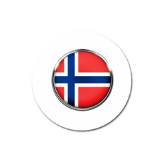 Norway Country Nation Blue Symbol Magnet 3  (round) by Nexatart
