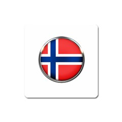 Norway Country Nation Blue Symbol Square Magnet