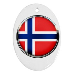 Norway Country Nation Blue Symbol Oval Ornament (two Sides) by Nexatart