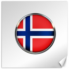 Norway Country Nation Blue Symbol Canvas 12  X 12   by Nexatart