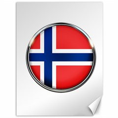 Norway Country Nation Blue Symbol Canvas 36  X 48