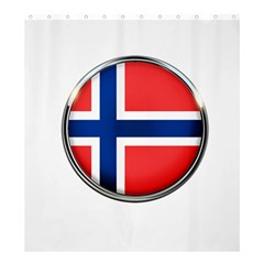Norway Country Nation Blue Symbol Shower Curtain 66  X 72  (large)