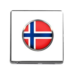 Norway Country Nation Blue Symbol Memory Card Reader (square) by Nexatart