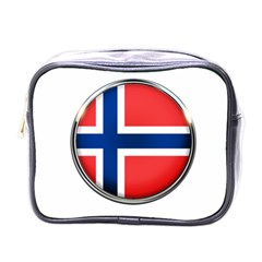 Norway Country Nation Blue Symbol Mini Toiletries Bags