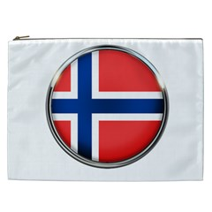 Norway Country Nation Blue Symbol Cosmetic Bag (xxl)  by Nexatart