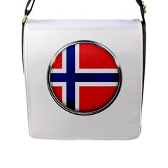 Norway Country Nation Blue Symbol Flap Messenger Bag (l)