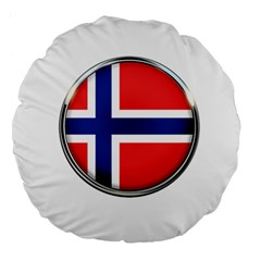 Norway Country Nation Blue Symbol Large 18  Premium Flano Round Cushions