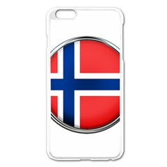 Norway Country Nation Blue Symbol Apple Iphone 6 Plus/6s Plus Enamel White Case