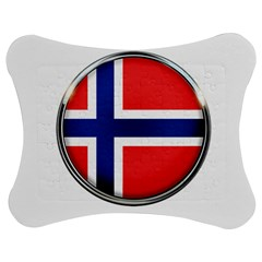 Norway Country Nation Blue Symbol Jigsaw Puzzle Photo Stand (bow) by Nexatart