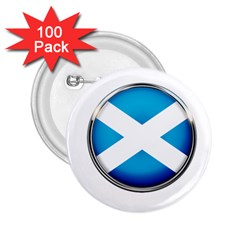 Scotland Nation Country Nationality 2 25  Buttons (100 Pack)  by Nexatart