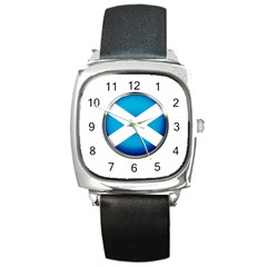 Scotland Nation Country Nationality Square Metal Watch by Nexatart