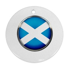 Scotland Nation Country Nationality Round Ornament (two Sides)
