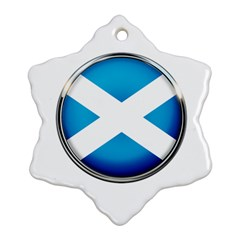 Scotland Nation Country Nationality Snowflake Ornament (two Sides)