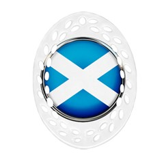 Scotland Nation Country Nationality Oval Filigree Ornament (two Sides) by Nexatart