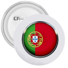 Portugal Flag Country Nation 3  Buttons by Nexatart