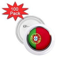 Portugal Flag Country Nation 1 75  Buttons (100 Pack)  by Nexatart