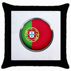 Portugal Flag Country Nation Throw Pillow Case (black)