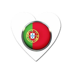 Portugal Flag Country Nation Heart Magnet by Nexatart