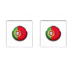 Portugal Flag Country Nation Cufflinks (square) by Nexatart