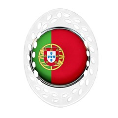 Portugal Flag Country Nation Ornament (oval Filigree)