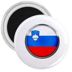 Slovenia Flag Mountains Country 3  Magnets by Nexatart