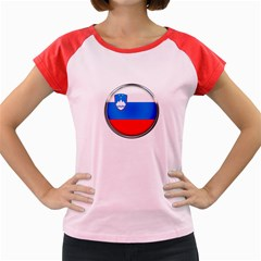 Slovenia Flag Mountains Country Women s Cap Sleeve T Shirt
