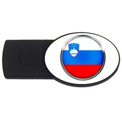 Slovenia Flag Mountains Country Usb Flash Drive Oval (2 Gb) by Nexatart