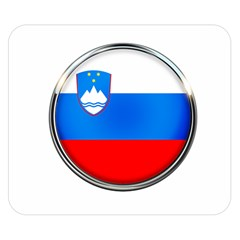 Slovenia Flag Mountains Country Double Sided Flano Blanket (small)