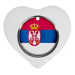 Serbia Flag Icon Europe National Ornament (heart) by Nexatart