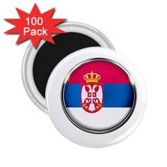 Serbia Flag Icon Europe National 2 25  Magnets (100 Pack)  by Nexatart