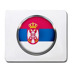 Serbia Flag Icon Europe National Large Mousepads