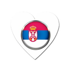 Serbia Flag Icon Europe National Heart Magnet
