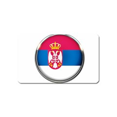 Serbia Flag Icon Europe National Magnet (name Card)