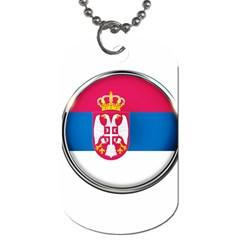 Serbia Flag Icon Europe National Dog Tag (two Sides) by Nexatart