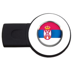 Serbia Flag Icon Europe National Usb Flash Drive Round (2 Gb) by Nexatart