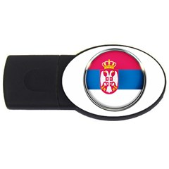 Serbia Flag Icon Europe National Usb Flash Drive Oval (2 Gb) by Nexatart