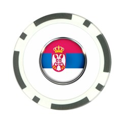 Serbia Flag Icon Europe National Poker Chip Card Guard (10 Pack) by Nexatart