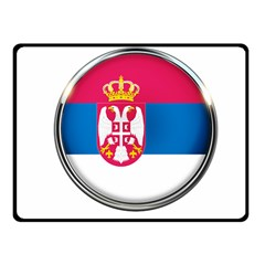 Serbia Flag Icon Europe National Fleece Blanket (small) by Nexatart