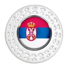 Serbia Flag Icon Europe National Round Filigree Ornament (two Sides) by Nexatart